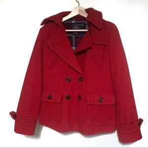 American Eagle Women's Medium Red Peacoat Jacket